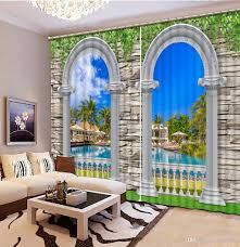 2017 curtains for living room roman scenery customized 3d curtains