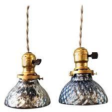 Mercury Glass Island Light Mercury Glass Pendant Lights With Pair Of Petite Blue Brass And Z