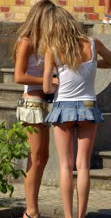 shortest skirts hot mini skirt two blond in the shortest skirts