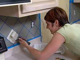 painted kitchen backsplash photos how to paint a faux tile backsplash how tos diy