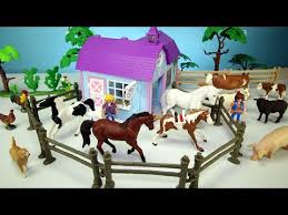 Toy Barn With Farm Animals Horse Stable Barn And Farm Animal Toys For Kids Learn Animals