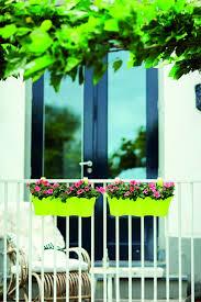 blumenhalter balkon elho corsica easy hanger geländertopf trio anthrazit de