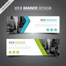 banner design jpg blue and green web banner design vector free download