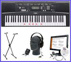 yamaha keyboard lighted keys yamaha keyboard bundle ez 220 61 lighted key headphones stand music