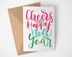 new years card happy new year card etsy