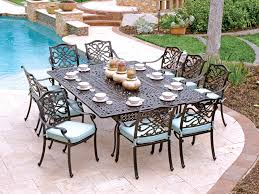 Outdoor Aluminum Patio Furniture Orleans 11 Pc Cast Aluminum Dining Set With 88 X 64 Rectangular