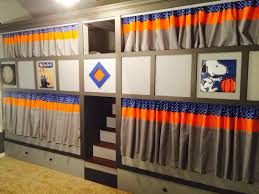Quad Bunk Beds With Privacy Curtains And Stained Stairs Made With - Quadruple bunk beds