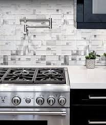Gray Wood Looking Marble Kitchen Backsplash Tile With Glass And - Modern backsplash