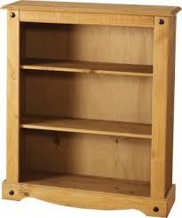 corona mexican pine bookcase low