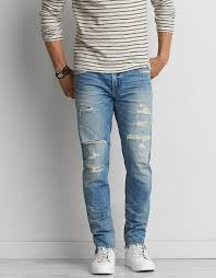 Ripped Knee Jeans Mens Ripped Jeans Ae Com American Eagle Outfitters