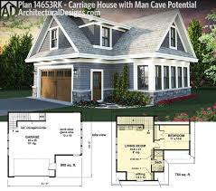 House For House Plan 14653rk Carriage House Plan With Man Cave Potential