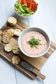 salmon mousse dip pineapple and coconut