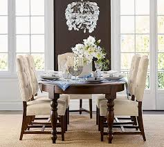Dining Table Chandelier Bella Crystal Rectangular Chandelier Pottery Barn