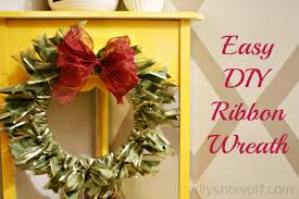 ribbon wreaths easy diy ribbon wreath tutorialdiy show diy