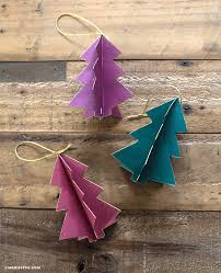3d paper tree ornaments lia griffith