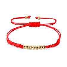 bead string bracelet images 2018 vekno 4mm golden beads red string bracelet adjustable jpg