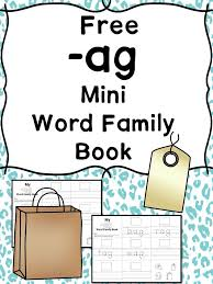 ot word family workbook for kindergarten phonics reading word