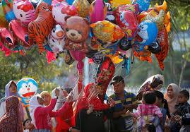 muslims around the world celebrate eid al fitr al arabiya