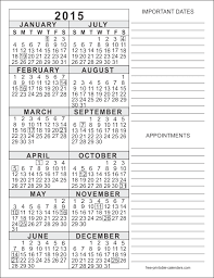 five styles of free printable 2015 calendars in pdf format