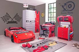 Ferrari Bed Childrens Black White Red Ferrari 458 Italia Style Spider Racing