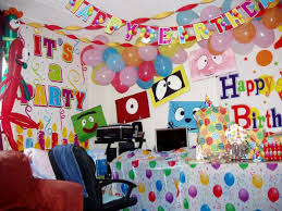 Balloon Decoration At Home Wall Decoration For Birthday Inspiration To Remodel Home Good