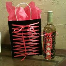 creative bridal shower gift ideas for the creative wrapping for a wine bottle and gift bag see more bridal