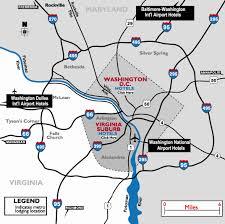 washington dc airports map washington dc airport hotels