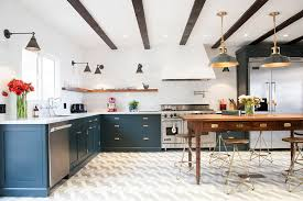 Kitchen With Only Lower Cabinets 29 Best Blue Kitchen Cabinet Ideas