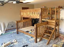 Plans For Bunk Bed With Stairs by Simple Queen Bunk Bed Plans Home Design By John