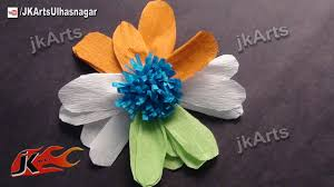 diy crepe paper flower republic day craft for projects