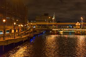Milwaukee Lights Photos Usa Milwaukee Wisconsin Bridges Night Rivers Street Lights