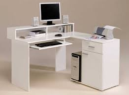 Desk And Bookshelves by Furniture Modern White Computer Desk With Two Speaker Sets And