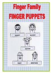 worksheet finger family puppets
