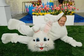 easter bunny costume mccarthy is spicer in easter bunny costume on snl