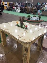 wood tan outdoor concrete patio table