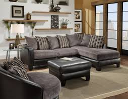 Gray Sectional Sofa With Chaise Lounge by Microfiber Sectional Sofa Chocolate Microfiber Modern Reversible