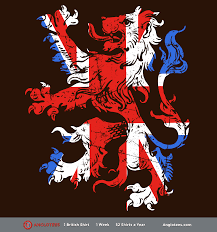 British Flag With Red The Lion Roars A Beatiful British Lion Wrapped In A Union Flag