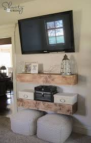 Free Shelf Woodworking Plans by Diy Media Shelves Shanty 2 Chic