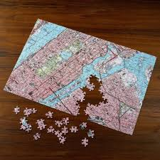 United States Map Puzzle Games by The Personalized Topographic Map Jigsaw Puzzle Hammacher Schlemmer