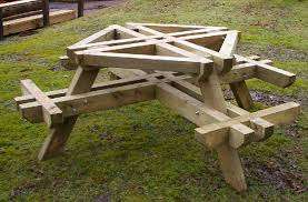 Free Round Wooden Picnic Table Plans round wood picnic table best tables