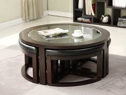 inspiring black leather ottoman coffee table for your living room