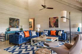 Living Room Ceiling Colors by A Farmhouse Style Retreat In Florida Features Pops Of Color