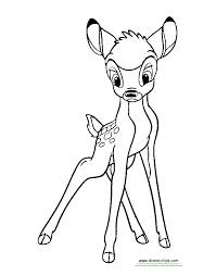 bambi printable coloring pages disney coloring book