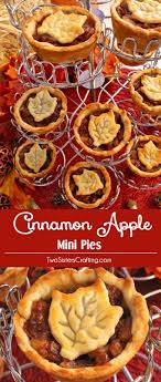 cinnamon apple mini pies thanksgiving pies desserts and