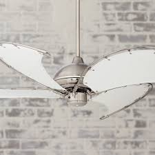 nickel ceiling fan with white blades full canvas blade ceiling fan 52 aerial brushed nickel fans