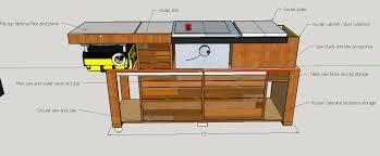 table saw cart u2013 table idea