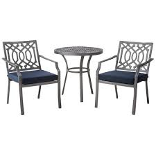 Threshold Harper Piece Metal Patio Bistro Set EBay - Threshold patio furniture