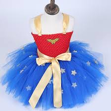 fluffy halloween costumes wonder women baby girls tutu dress costumes cosplay kids