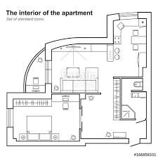 top view floor plan architectural plan of a house in top view floor plan with furniture