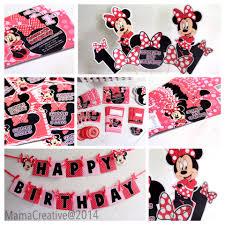 Minnie Mouse Invitation Card Themed Minnie Mouse Angela U0027s 1st Birthday Props Invitation Card